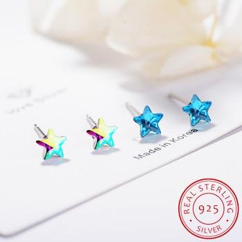 Lekani Embellished With Crystals From Swarovski Stud Earring Women Star Earrings Austrian Rhinestone 925 Sterling Silver