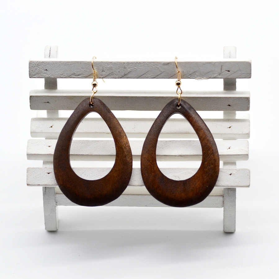 YULUCH 2018 New Fashion New Personality Wood Drop Earrings for Women Vintage Simple Jewelry for Girls Party Gift Art Accessories