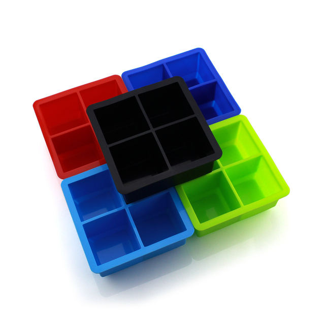 Large Silicone Ice Cube Tray with Cover
