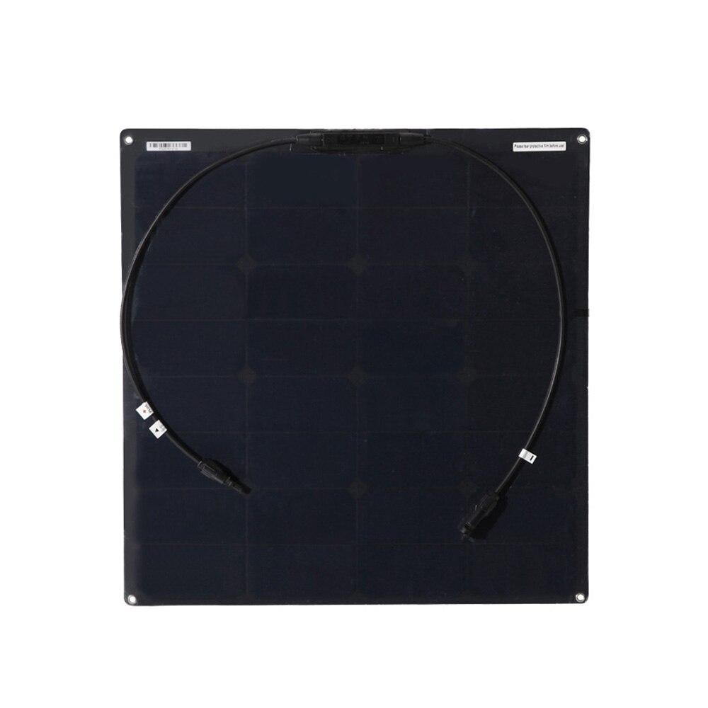 BOGUANG 1pcs 18V 50w black flexible solar panel solar cell module for car yacht home Roof Power station 12v battery charger