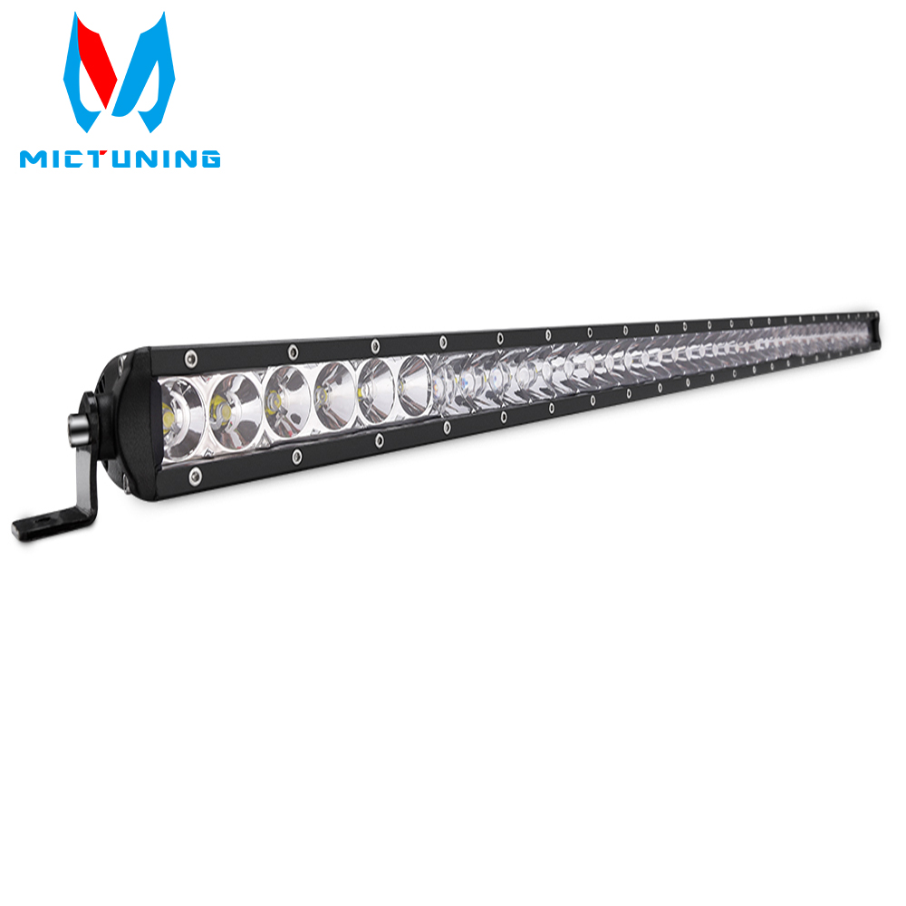 MICTUNING 51 Inch 250W Single Row Led Work Light Bars Combo Beam Work Lights for Jeep
