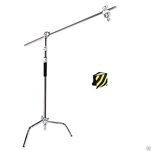 Professional Heavy Duty Photo Studio 3-Section 3.25m 325cm Steel Century C-Stand Light Lighting with 1m 100cm Boom Arm 2 Metal