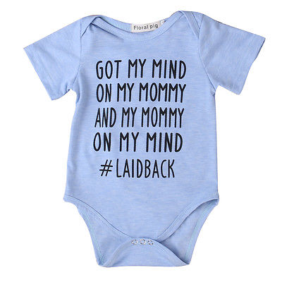 Summer 2017 Newborn Infant Baby Boy Girl Cotton Romper got my mind Jumpsuit Kids Clothes Outfit