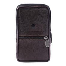 Fashion Mini Coin Purse Vintage Men Pure color Leather Handbag Messenger Bags Coin Bag Phone Bag monederos para mujer A50