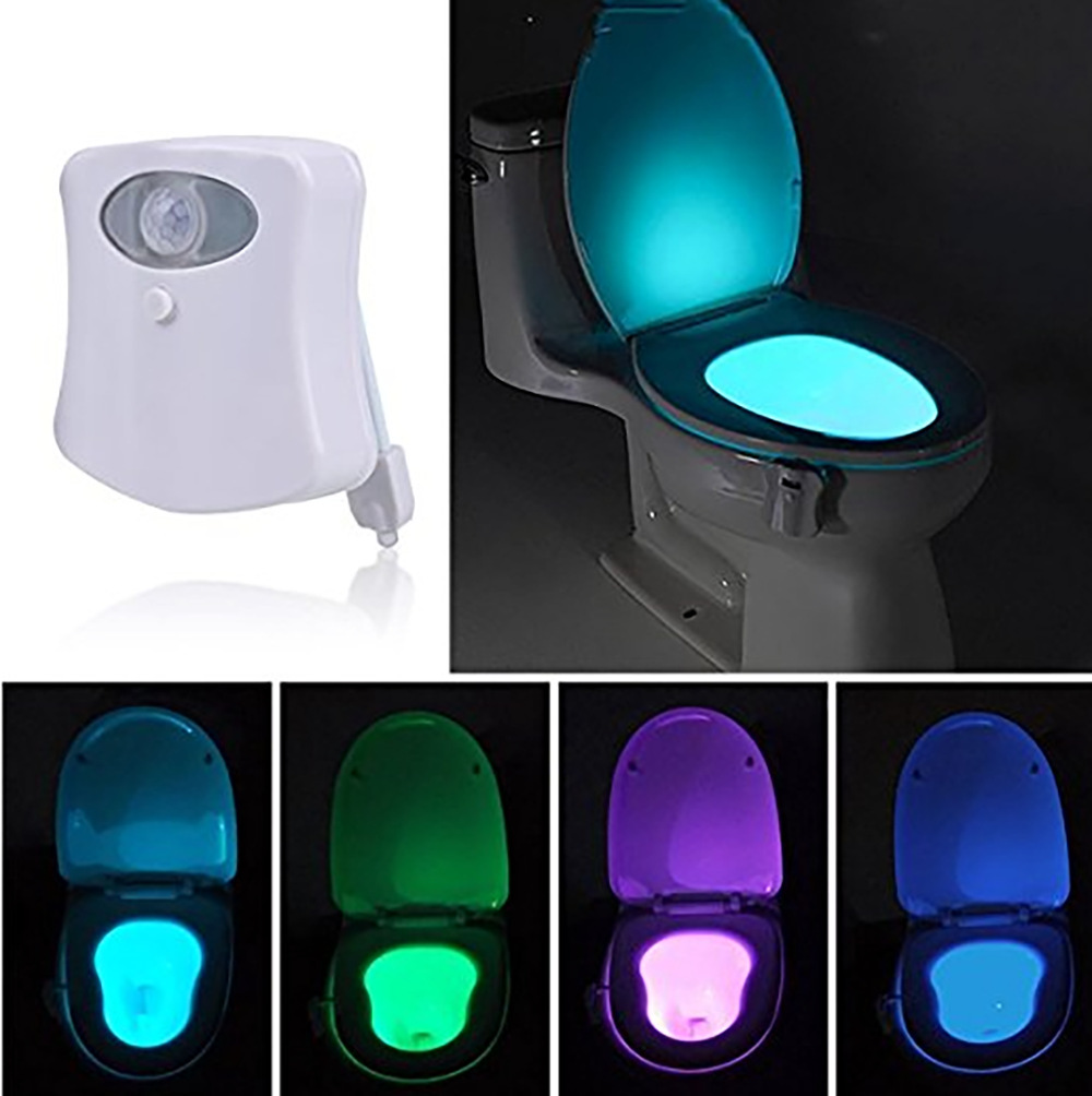 Night Lights Lamps, Lighting & Ceiling Fans Competent 2 Motion Activated Toilet Bowl Night Light Led Seat Sensor Lamp 8-color Changing