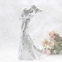 Casamento деревенский поцелуй любовь пара свадебный торт Топпер Жених и невеста Стенд Торт Свадебный торт Аксессуары Свадебные украшения