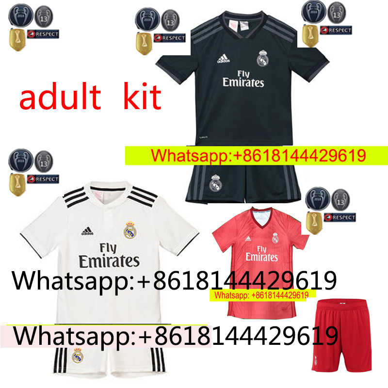 e190d5f7e NEW 2018 2019 REAL MADRID jersey 18 19 AWAY football camisetas RONALDO BALE  BENZEMA Thai AAA