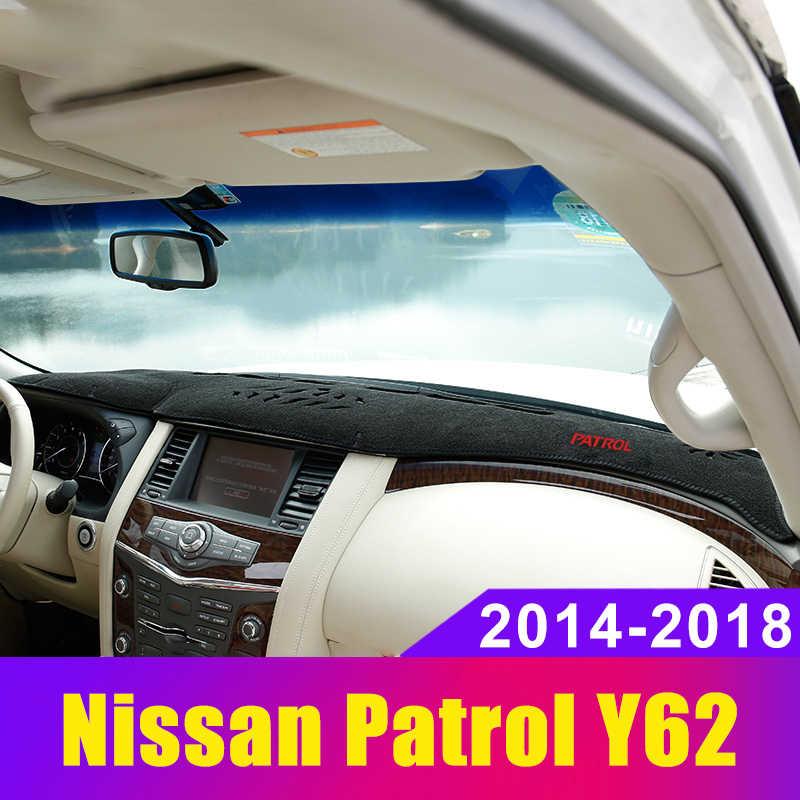 Приборной панели автомобиля Избегайте свет Pad Инструмент крышка платформы стол коврик ковры отделка LHD для Nissan Patrol Y62 2014 2015 2016 2017 2018