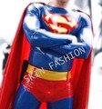 Grátis shippinp!!! homens da moda superman terno macacão de látex (não incluindo meias e botas)