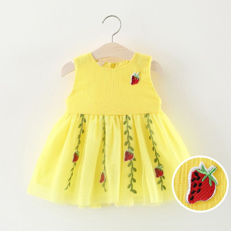 2018 Infant Dresses Summer Brand Cute Strawberry Baby Dress Toddler Girls Clothes For 1st Birthday Dress Kids Costume vestidos