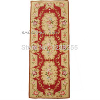Double Knots Hand woven Carpet Vintage Royal Design With Floral Embroidery Points For Carpets Living Room Museum