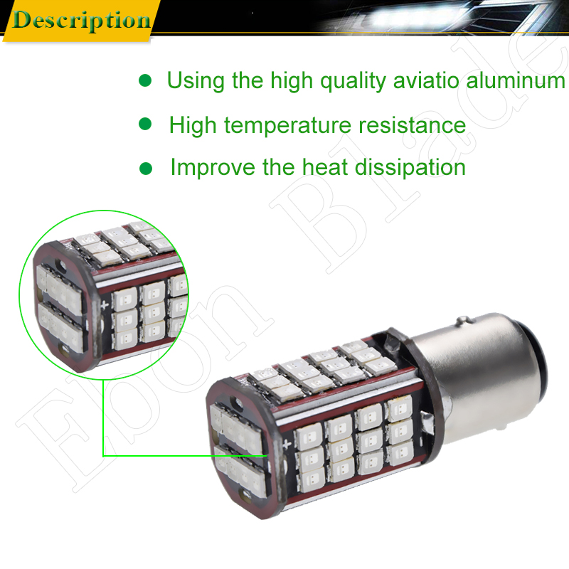 Image 4 - 2 x 1157 BAY15D P21/5W led car light white red yellow amber 56 smd auto motorcycle brake stop turn signal lights bulb lamp 6V DC-in Signal Lamp from Automobiles & Motorcycles