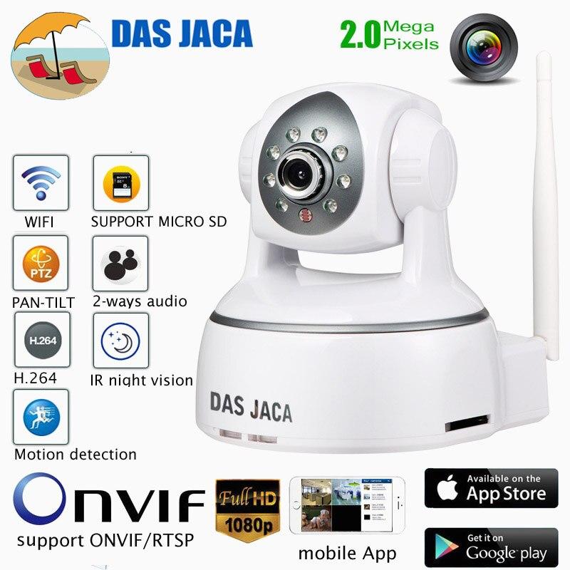 Das Jaca 2mp ip sans fil caméra ptz dôme 1080 p surveillance caméra wifi bébé moniteur onvif accueil cctv sécurité vidéo caméra alarme