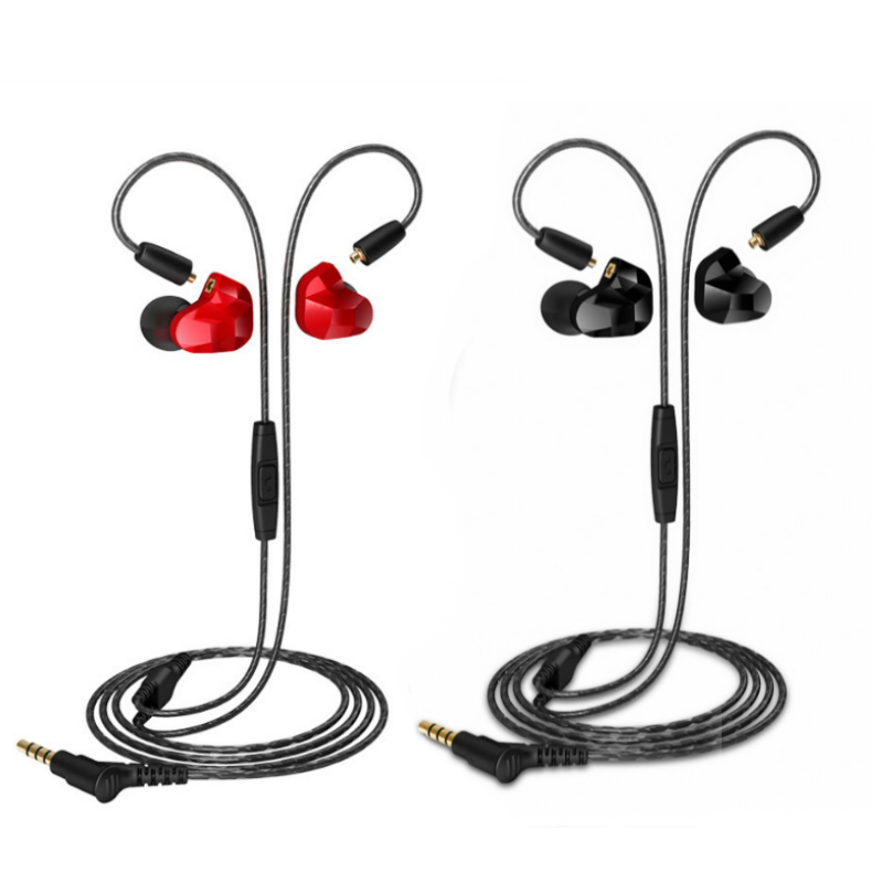 Professional HIFI Music In-ear Headphone Moxpad X9 Dual Dynamic Driver Earphone Built In Mic With Box Replacement Cable Design
