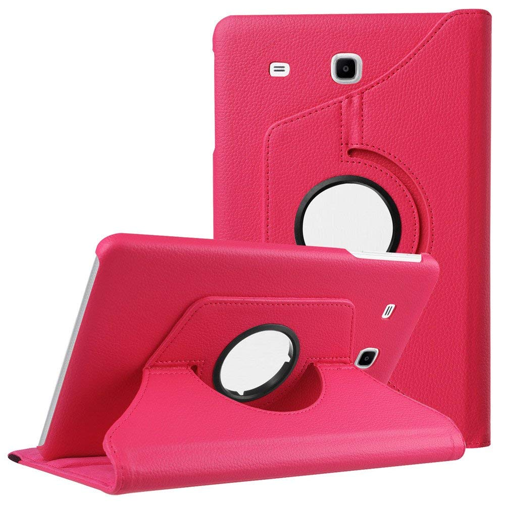 купить 360 Degree Rotating Case Cover For Samsung Tab E 9.6 SM-T560 PU Leather Flip Case For GALAXY Tab E 9.6inch T560 T561 Tablet Case по цене 379.43 рублей