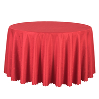 10PCS Solid Jacquard Round Table Covers Decor Wedding Banquet Hotel Tablecloths Solid Red Gold Table Cloth