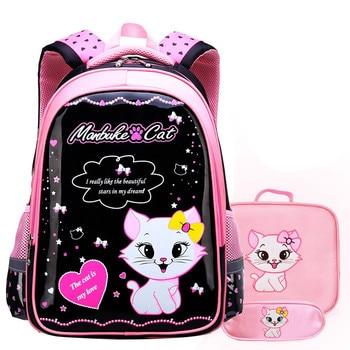 Fashion Sweet Cat Girl's School Bags Cartoon Pattern Kid Backpack Children School Backpack Girl Satchel Bag pencil bags Mochila 2