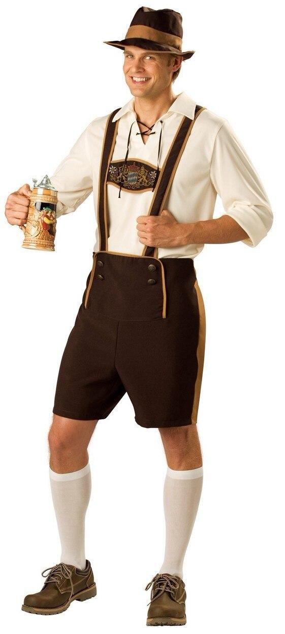 0041a9987e Halloween Lederhosen Costume Adult German Beer costume men Bavarian Guy  Oktoberfest Fancy Wear