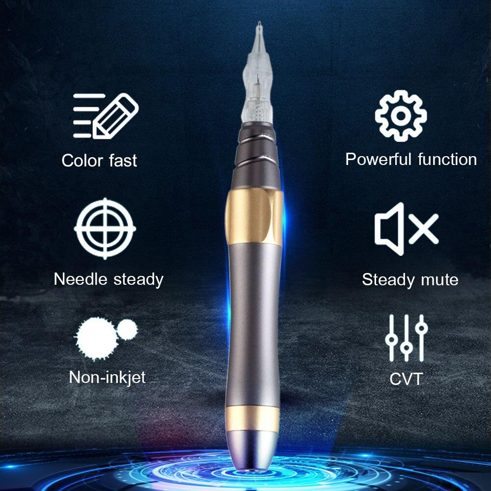 La plus nouvelle Machine à écrire professionnelle de Machine à tatouer pour le maquillage Permanent sourcils Microblading le Kit de maquillage avec l'aiguille de cartouches de tatouage