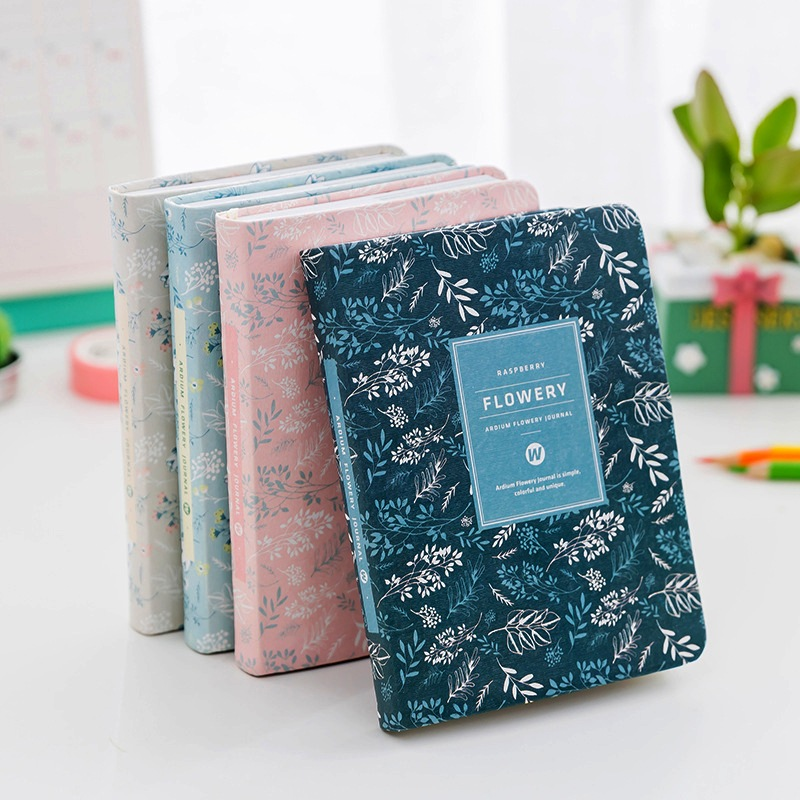 Flowery ver.2 Beautiful Notebook Any Year Monthly Weekly Planner Agenda Journal Fabric Cover