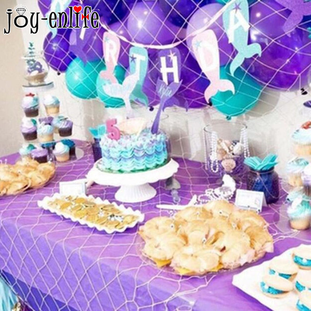 Joy Enlife Mermaid Theme Party Decorations Banner Hats Latex Ballons Baby Shower Under The