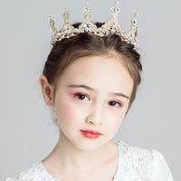 Europe Kids Crown headband hair clips for kids birthday Crwon bows hair accessories birthday gifts Children ornaments