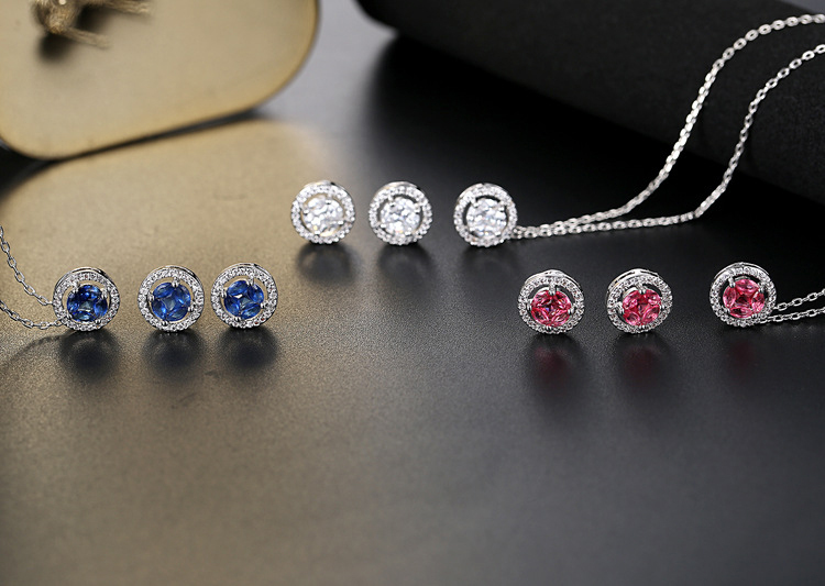 69d275b17817 La novia de La joyería fina joyas para las Mujeres Partido regalo joya  collares pendientes 3 colores BR3117 NE en Sistemas de la joyería de  Joyería y ...
