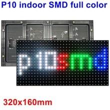 A cor completa interna p10 smd conduziu o módulo de exibição da tela 320mm * 160mm 32*16 pixels 1/8 digitam o porto hub75 da placa conduzida dos meios da propaganda do rgb
