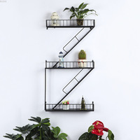 Retro Industrial Staircase Iron Art Shelf Bar Restaurant Storage Shelf Decorative Wall Hanging Rack Cafe Living Room Decoration