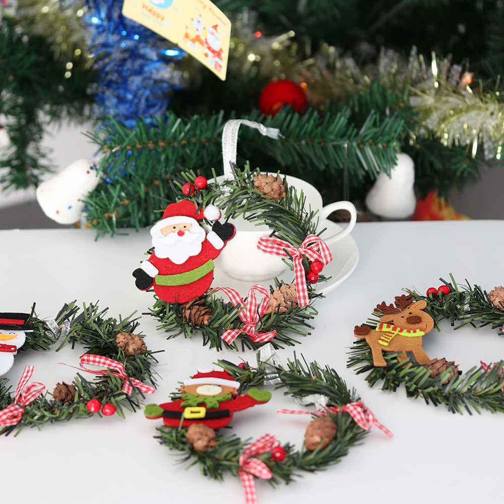 Detail Feedback Questions About Small Christmas Wreath Cartoon With