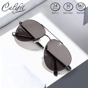 Image 1 - CALIFIT Pilot Classic Men Optical Prescription Glasses Myopia Vintage Oversized Degree Progressive Photochromic Glasses Male