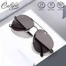 Gafas CALIFIT Pilot clásicas para hombre, gafas graduadas ópticas, miopía Vintage de gran tamaño, gafas fotocrómica progresiva para hombre