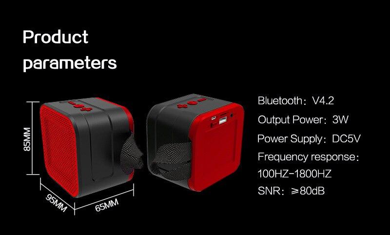 Gute 2019 extérieur étanche Bluetooth haut-parleur mode radio FM TF carte téléphone PC puissant portable sans fil haut-parleur mini xtr tod - 5