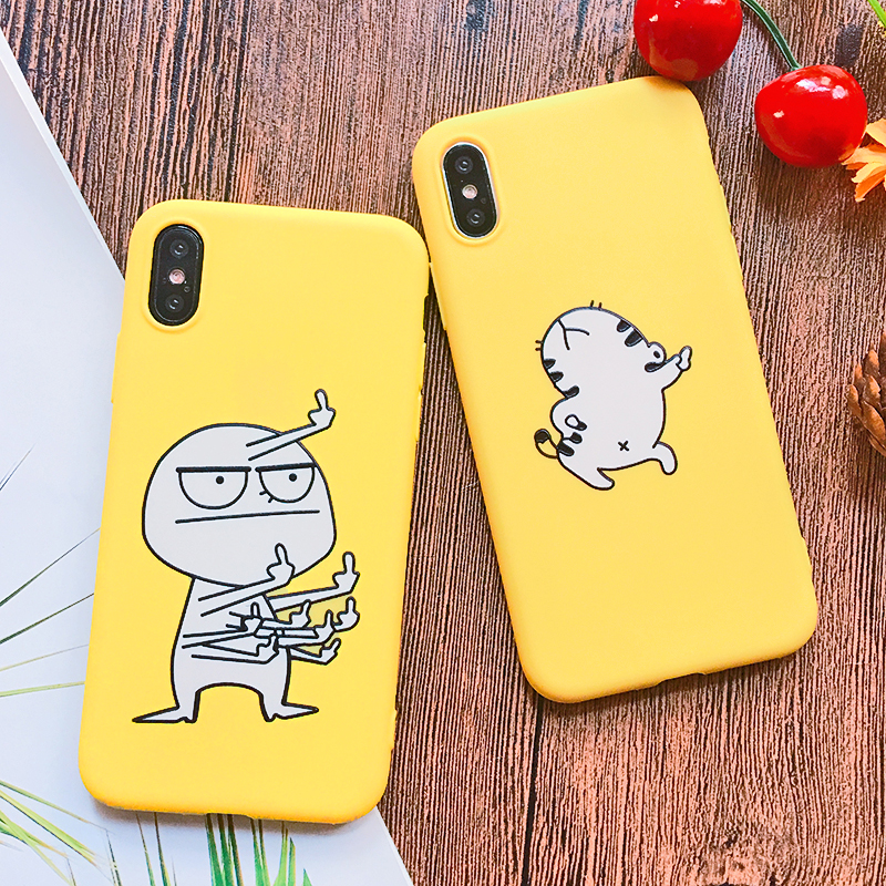 Funny Cartoon Giraffe Phone Case For iPhone 7 8 Plus TPU Silicone Back Cover for iPhone X XR XS Max 6 6S Plus 5 5S SE Soft Case (9)