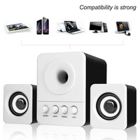 5PCS Wired Mini Portable Combination Speaker Laptop Desktop Computer Mobile Phone Column Bass Cannon 3W PC Speakers