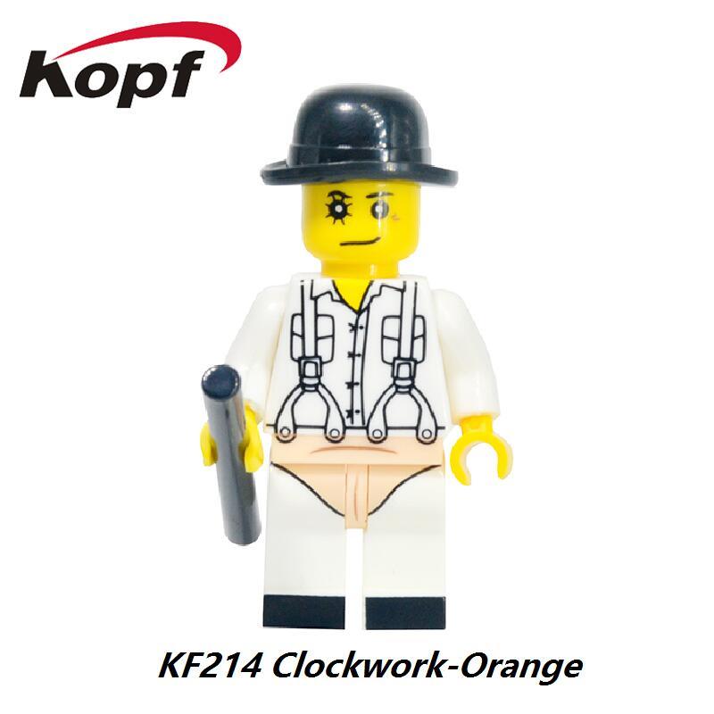The Horror Theme Movie Clockwork Orange Hockey Mask Guy Jason Boomstick Nightmares Sally Shock Building Blocks Kids Toys KF214 the infernal devices 1 clockwork angel