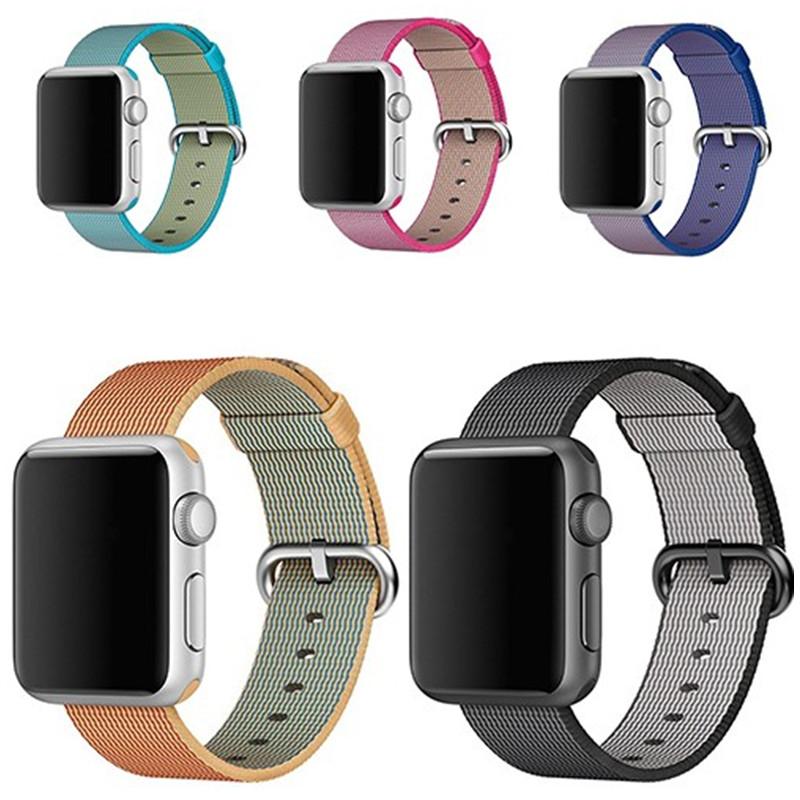 Prix pour Tissé bracelet En Nylon pour iwatch apple watch 2/1 42mm 38mm sport bracelet & 20mm/22mm tissu en nylon bracelet montre Accessoires
