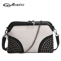 2016 Chain Rivet Shell Bag Summer Beach Famous Brand Exquisite Fashion PU Leather Women Messenger Bags