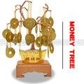 Горячая продажа китайский фэншуй талисман Металлические ремесла Металл хорошая удача везучий дерево с монетами хорошее желание зарабатыв...