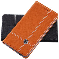 For Sony Xperia M4 Case Cover Litchi Grain Flip Genuine Leather Case Cover For Sony M4