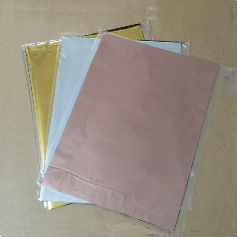50Pcs Mixed Color Gold Silver Hot Stamping Foil Paper Laminator Transfer On Elegance Laser Printer Craft Paper 20x29cm 5colors