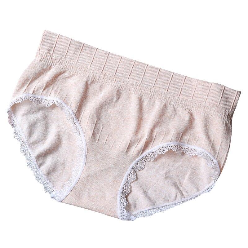Mujeres sin costura algodón Mid-Rise bragas alta elasticidad tamaño ...