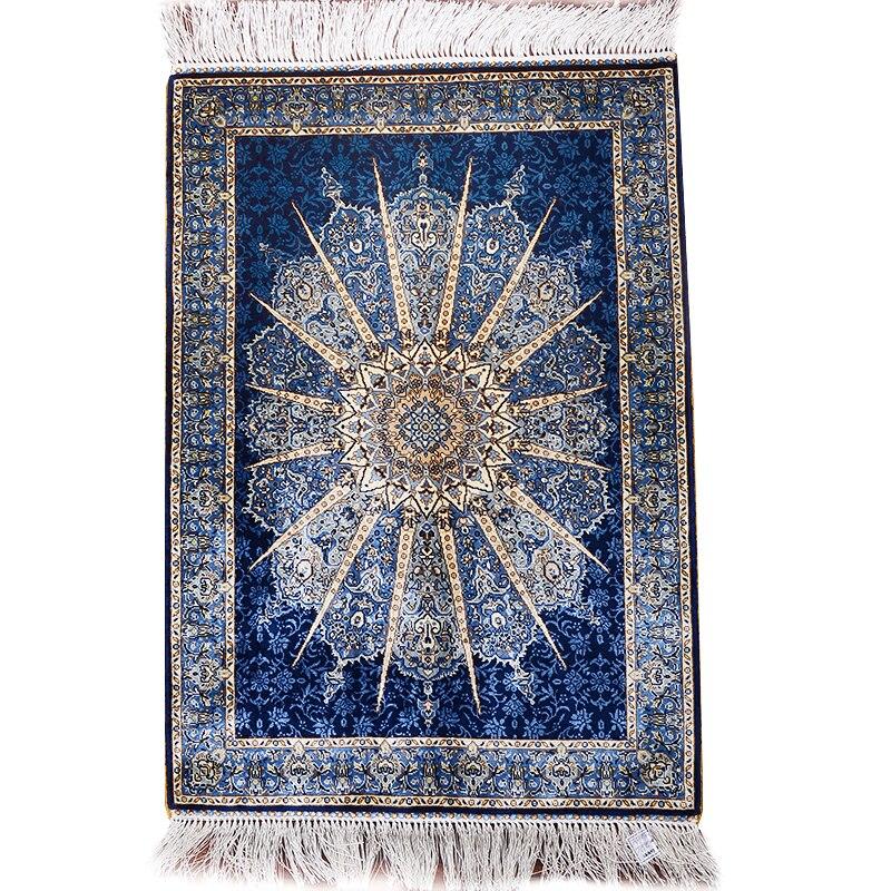 2'x3 'tapis turc Design soleil tapis en soie tapis muraux faits à la main tapis de sol tissé à la main