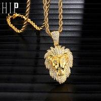 Хип хоп Iced Out Bling песочные часы горный хрусталь медь позолоченные подвески и ожерелья для мужчин ювелирные изделия дропшиппинг