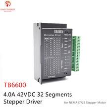 TB6600 обновленная версия 0,5-4.0A 9-42VDC сегментов NEMA17/23/34 Драйвер шагового двигателя для дерева маршрутизатора мачин фрезерные Наборы