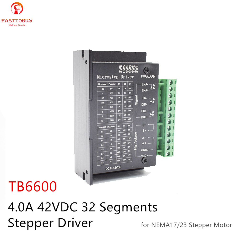 TB6600 Upgraded Version 0.5-4A 9-42VDC 32 Segments for NEMA17/23/34 Stepper <font><b>Motor</b></font> <font><b>Driver</b></font> Wood Router Machine Milling Kits image