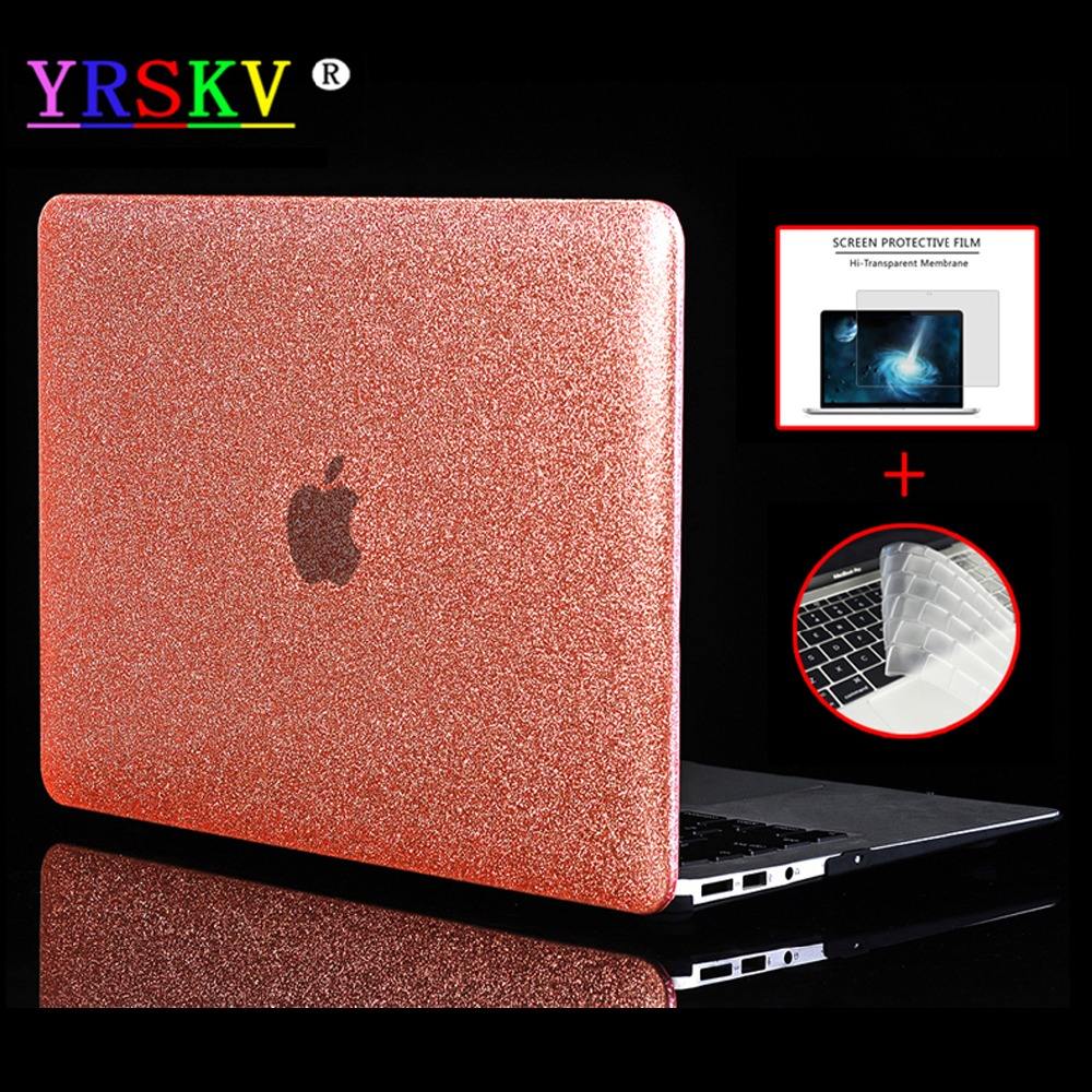 """YRSKV-Shine Glitter Hard Laptop Case For Apple Macbook Air Pro Retina 11""""12""""13""""15"""" Case for Mac book New Air Pro 13""""15""""Touch Bar"""