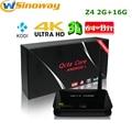 [Auténtica] Z4 Android 5.1 TV BOX RK3368 64 bits Octa core 2 GB/16 GB 2.4G/5.8G AP6335 Wifi Dual Gigabit Lan 4 K KODI instalado Z 4