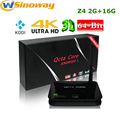 [Genuine] Z4 RK3368 64 bits Octa núcleo Android 5.1 CAIXA de TV 2 GB/16 GB 2.4G/5.8G AP6335 Wifi Dual Gigabit Lan 4 K KODI instalado Z 4