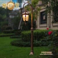 Single Head Europe Garden Stand Lamp Villa Garden Landscape Light 220V Bronze Black Aluminum Fixture 140CM